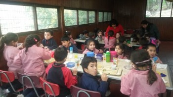 Los niños de Kínder del Infant tuvieron la oportunidad de almorzar en el Casino Aconcagua.