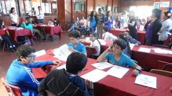 Imagen de las olimpiadas  de matemáticas pasadas desarrolladas en el Casino Aconcagua.