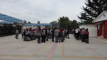 Los alumnos ingresaron a las 8:15 para luego rendir  SIMCE.