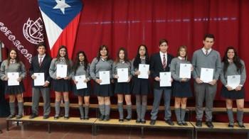 Imagen de la Ceremonia de Premiación Colegio Aconcagua 2013.
