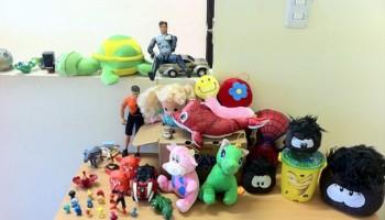 Estos son algunos de los juguetes que se han juntado.