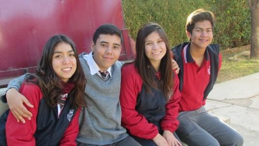 Los jóvenes aconcagüinos que conforman el Centro de Alumnos.