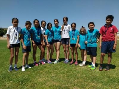 El equipo aconcagüino de atletismo se quedó con el tercer lugar.