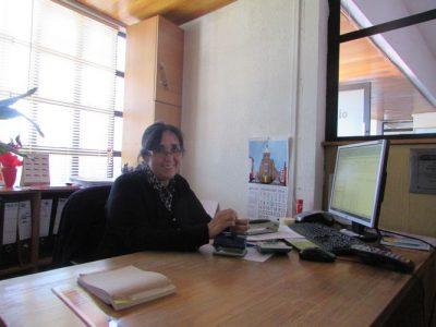 Miss Irene Cárcamo (Secretaria de Gerencia Colegio Aconcagua)