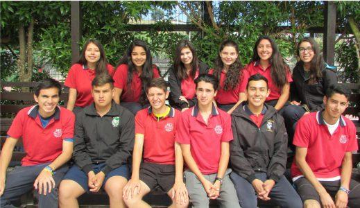 Alumnos de IV° medio con gran trayectoria en el Colegio.