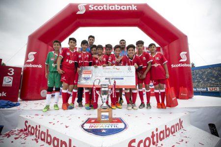Selección Sub 12 Colegio Aconcagua Campeones del Campeonato Nacional Infantil Scotiabank 2016.