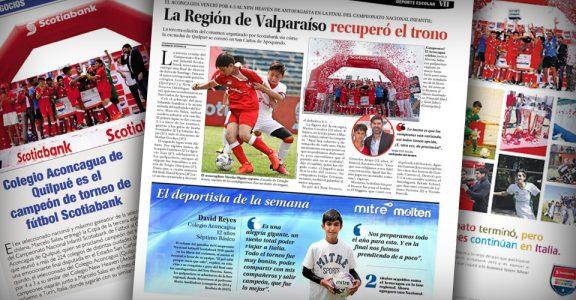 Artículos de diferentes periódicos donde destacan los logros deportivos de nuestro Colegio.