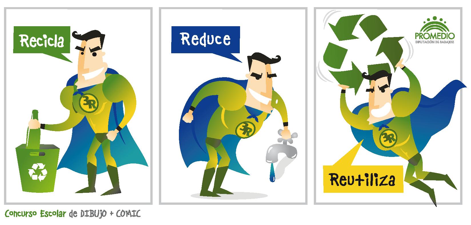 Las 3r de la ecolog a reducir reutilizar y reciclar for Practica de oficina concepto